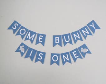 Some Bunny Is One Banner