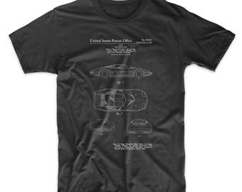 Chevrolet Aerovette Concept Car Patent T Shirt, Corvette Shirt, Car Enthusiast, Car Gifts, Garage Shirt, PP0399