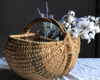Woven Split Oak Basket / Farmhouse Basket
