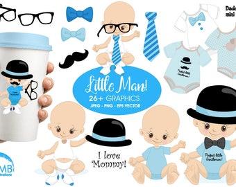 Baby boy clip art, baby boy birthday clipart, create your own clipart, boys clipart, boy birthday clipart, masculine clipart, AMB-1291