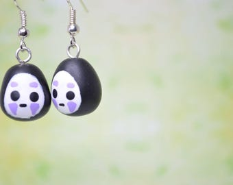 Studio Ghibli Inspired No-Face or Kaonashi Earrings