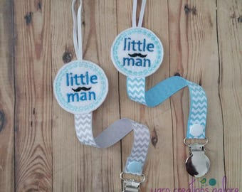 Feltie Little Man Mustache Pacifier Holder