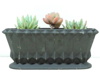 French Vintage Jardiniere/Vintage Planter/Art Deco Planter/Antique Jardiniere/Cast Iron Jardiniere/Antique French Black Cast Iron Planter