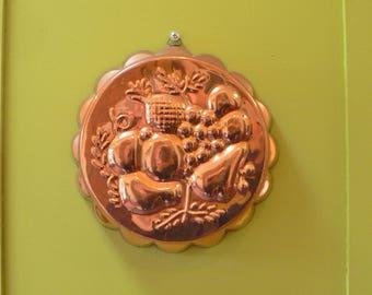 Copper and tin mold, sponge mold, jello mold, copper mold, copper jelly mold, copper baking mold