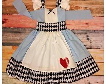 Alice In Wonderland inspired Classic Dress