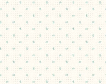 Bee Backgrounds - Daisy Teal by Lori Holt of Bee in My Bonnet for Riley Blake, 1/2 yard, C6380-Teal