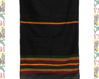 Ethiopian Traditional Woven Cotton Shawl (Scarf-a16)