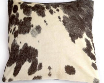 Natural Cowhide Luxurious Hair On Cushion/ Pillow Cover (15''x 15'') A38
