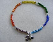 CHAKRA Guardian Angel Bell Beaded Multi colour Anklet Ankle Bracelet Chain stretch