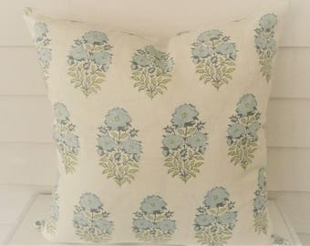 Ready to Ship Mughal Flower Pillow Cover