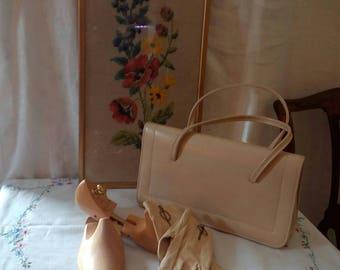 Vintage cream Prova 1960s handbag