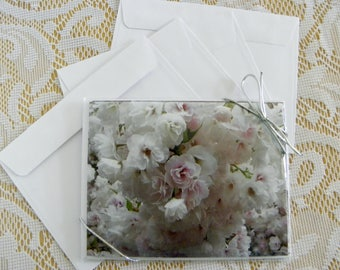WEDDING Bridal Note Cards, printed 4-piece set, with 2 Options, from Pam's Fab Photos