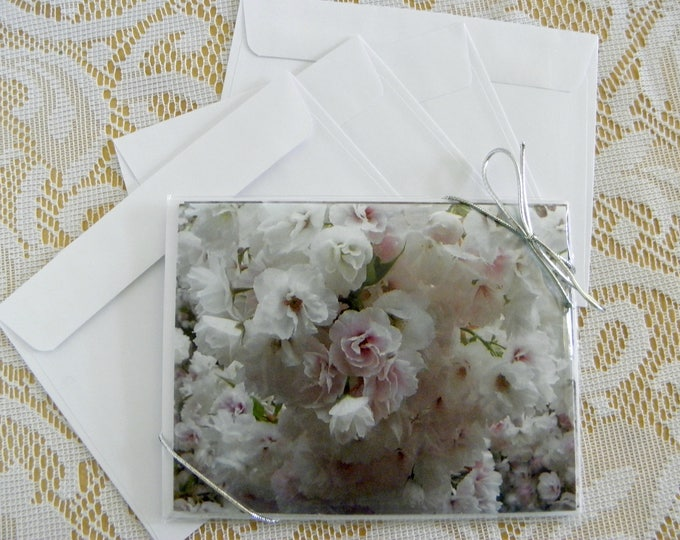 WEDDING, ENGAGEMENT, ANNIVERSARY Note Cards, printed 4-piece set, from Pam's Fab Photos