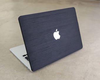 Wood MacBook Skin MacBook Pro Air Real Wood Black Ash Decal for MacBook 12 Air 11 13 Pro 13 15 Retina 13 15 Touchbar