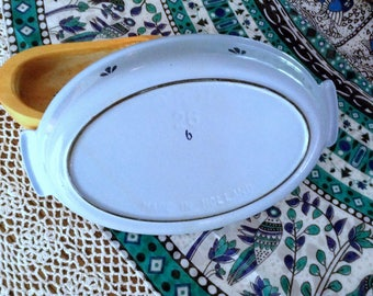 Enameled Cast Iron Casserole Dish, Holland made pale blue