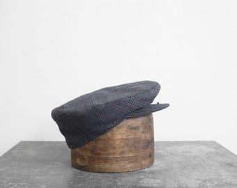 Vintage wool Flat Cap - M - 7-1/4