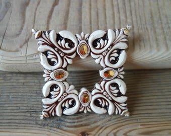 Ceramic decoration handmade