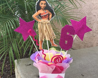 Moana Centerpieces,Moana Birthday,Moana Birthday Decorations, Moana Centerpiece Moana Birthday