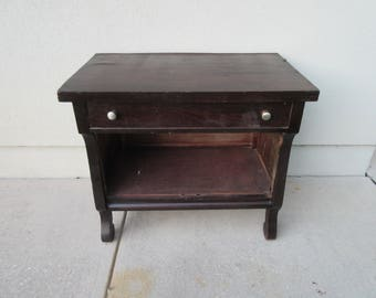 Vintage,Rustic,Farmhouse,Country side table with dovetail drawer,wood,sturdy,beverage station,entertainment center,TV stand,stereo cabinet