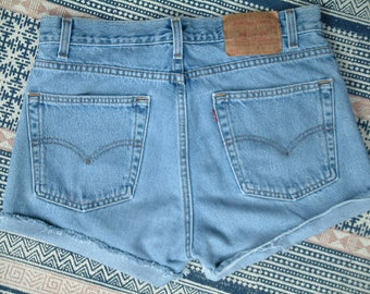 Levis 512s Vintage Denim High Waisted Shorts - M