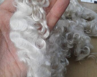 LONG washed Mohair locks- 5 to 6 inches