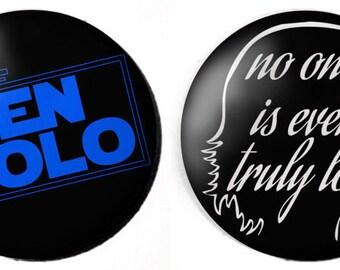 "The Last Jedi Ben Solo/Kylo Ren 2.25"" Button or Magnet"