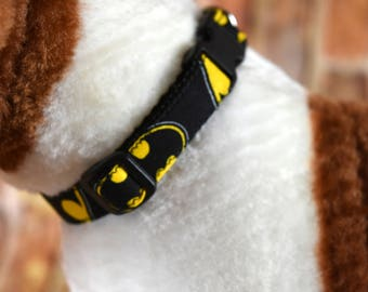 Small Dog Collar, Dog Collar, Adjustable Dog Collar, Handmade Dog Collar, Custom Dog Collar, Superhero Pet Collar, Dog Accessories