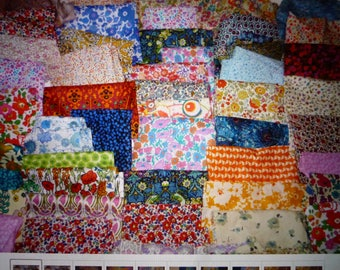 Liberty of London Tana Lawn Cotton fabric Large fat quarter bits/remnants/scraps
