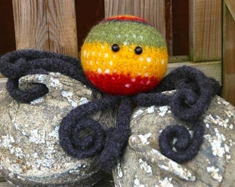 Meet Rastapus your new Felted Cephalopod Friend - he will bring eight-legged tentacled super Octopus luck & good fortune into your life!