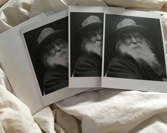 Vintage Walt Whitman cards Americana and quilt cards stationary