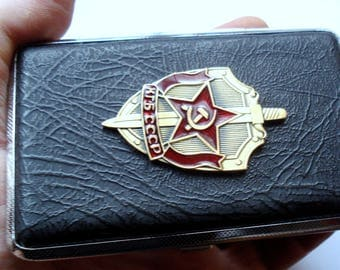 Vintage Soviet KGB (КГБ) Department Cigarette Case/USSR Cigarette Case/Double Sided Cigarette Case/Unused