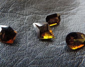 green-orange-brownish Dravite Tourmaline from Taïta-Kenya.