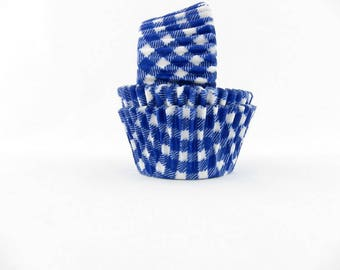 Blue Gingham Cupcake Liners, Blue Baking Cups, Wizard of Oz Cupcake Liners