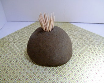 Toothpick Holder, Natural Stone Toothpick Holder, Rock Toothpick Holder