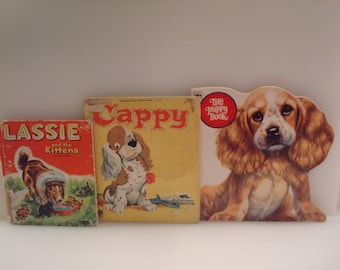 Vintage Collection of Children's Dog Books: Lassie, Cappy & The Puppy Book