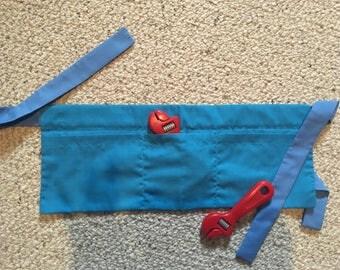 Blue tool belt- large quantity