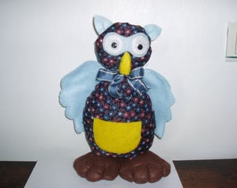 OWL Gillou of decoration in felt and fabric