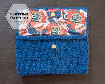 Knitting Pattern | Modern Minimalist Handbag Clutch Purse Pattern | INDIGO