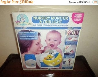 Save 25% Now Vintage 1996 Baby Looney Tunes Nursery Monitor and Crib Light Safety 1st NEW in Original Box No 94054