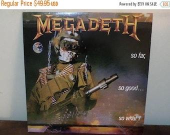 Save 30% Today Vintage 1988 Vinyl LP Record So Far So Good So What! Megadeath Excellent Condition 13653