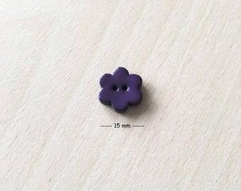 """Pretty """"flowers"""" Purple size: 15 mm"""