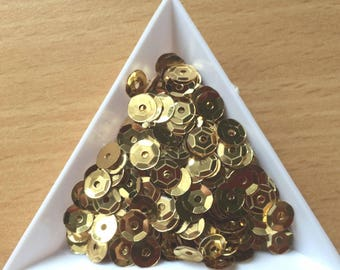 Straw / Cup gold metal 6 mm in bulk