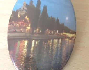 "magnets / Fridge Magnet: ""edges of the Seine"""