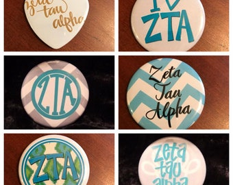Zeta Tau Alpha Buttons (6 to choose from)