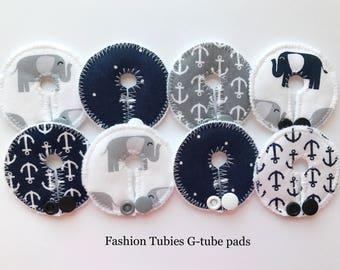 Set of 8 G tube pads / gtube pads / g-tube pads / gtube covers / feeding tube pads / g tube covers / mic-key button cover / AMT mini button