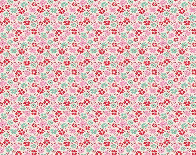 TILDA LEMONTREE - Flowerfield Red 100017 - 1/2 yard
