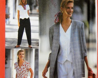Simplicity 8239 American Classic pants or shorts, top and unlined jacket pattern Uncut Sizes 12, 14 and 16