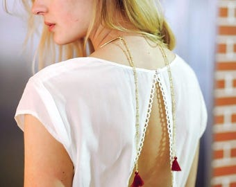 Collar back Cahaya 24 carat gold plated