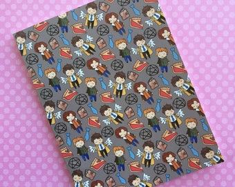 Supernatural Notebook- Lined Paper, Geeky Stationary, Kawaii Journal, Hello Quirky