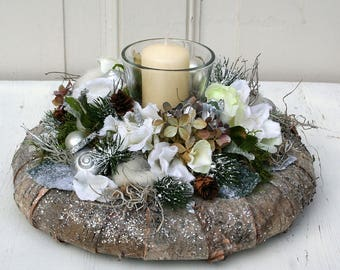 Advent Wreath Christmas wreath table with candles 22 cm